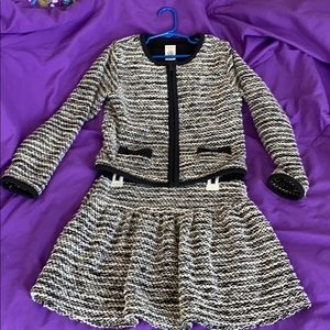 Girls skirt and jacket suit set size 7/8